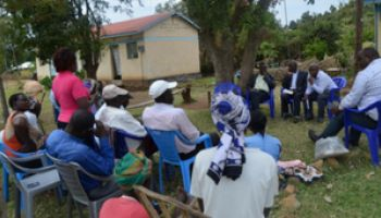 A participant contributes to a focus group discussion in Siaya County, Kenya